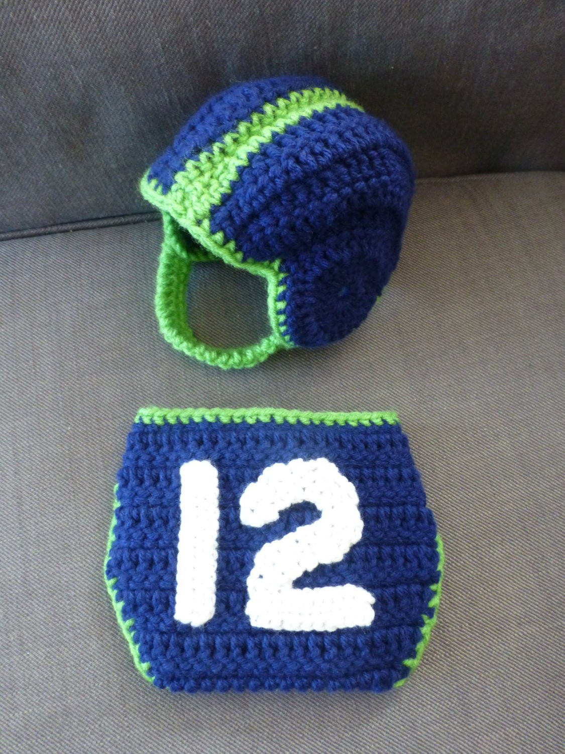 Awesome Crocheted Newborn Baby Boy Seattle Seahawks Inspired Football Crochet Football Helmets Of Lovely 48 Pics Crochet Football Helmets