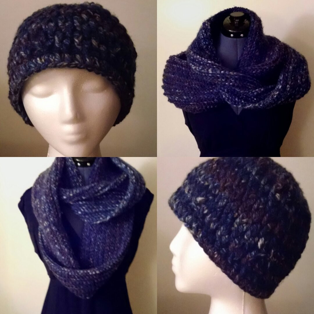 Awesome Crocheted Textured Adult Hat Knitted Infinity Scarf Set Crochet Hat and Scarf Set Of Amazing 44 Models Crochet Hat and Scarf Set