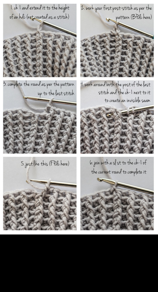Awesome Cup Of Stitches Post Stitch Crochet Joining Rounds Invisibly Crochet Post Stitch Of Incredible 45 Images Crochet Post Stitch