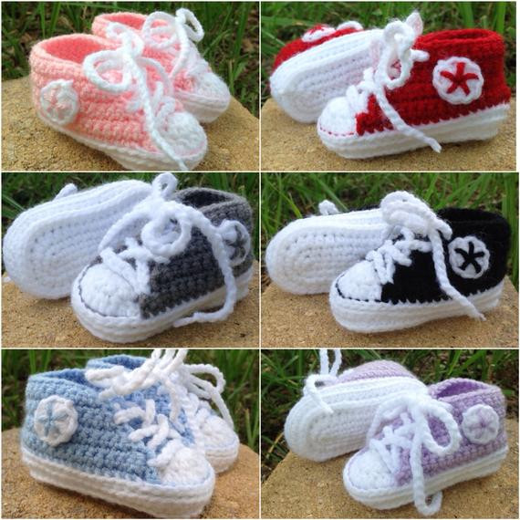 Awesome Custom Color Crochet Converse Booties Crochet Converse Booties Of Innovative 41 Models Crochet Converse Booties