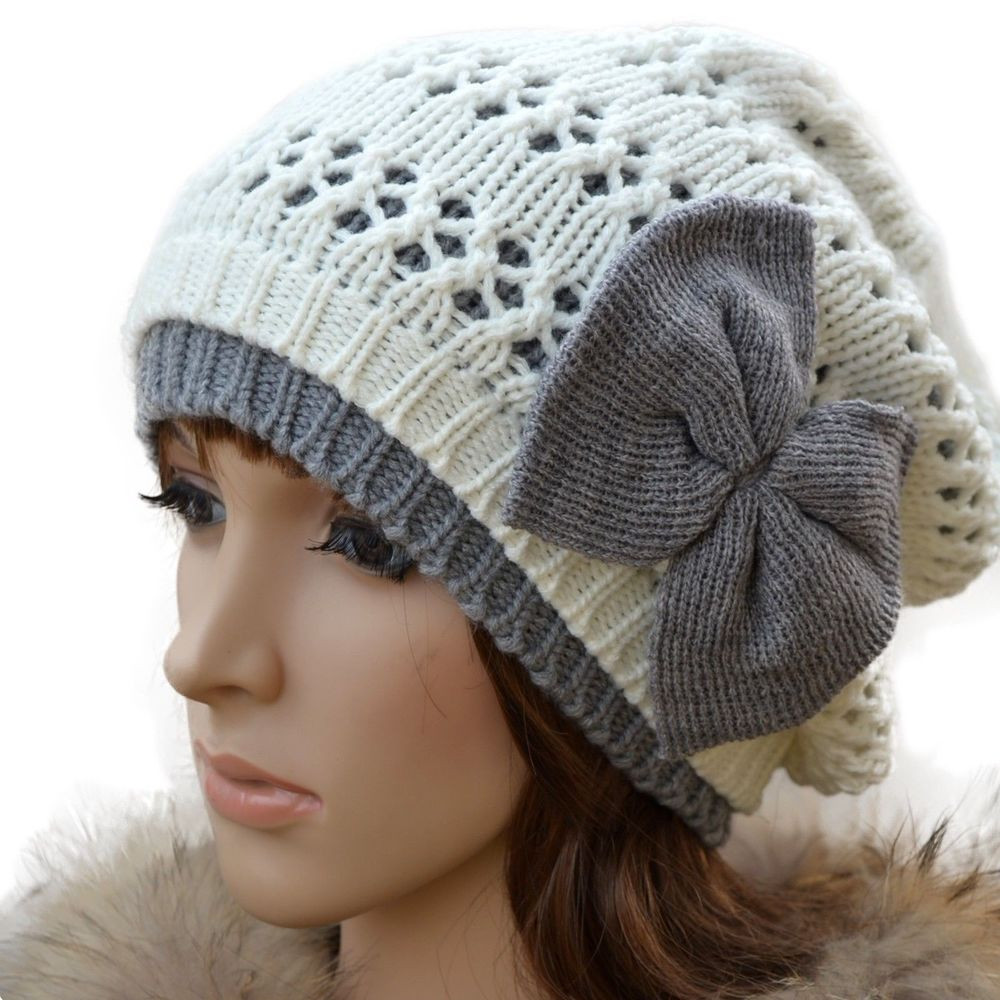 Awesome Cute Girl Crochet Chunky Beanie Bow Skull Knit Girls Knit Hats Of Delightful 44 Pics Girls Knit Hats
