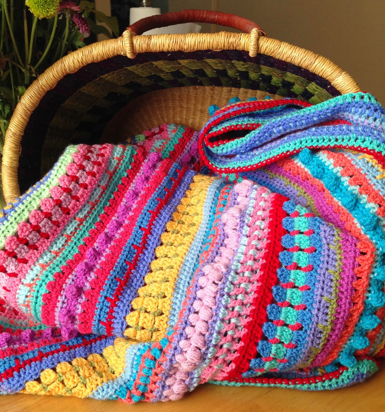 Awesome Da S Crochet Connection Multi Stitch Stripe Blanket Afghan Stitch Of Innovative 41 Images Afghan Stitch