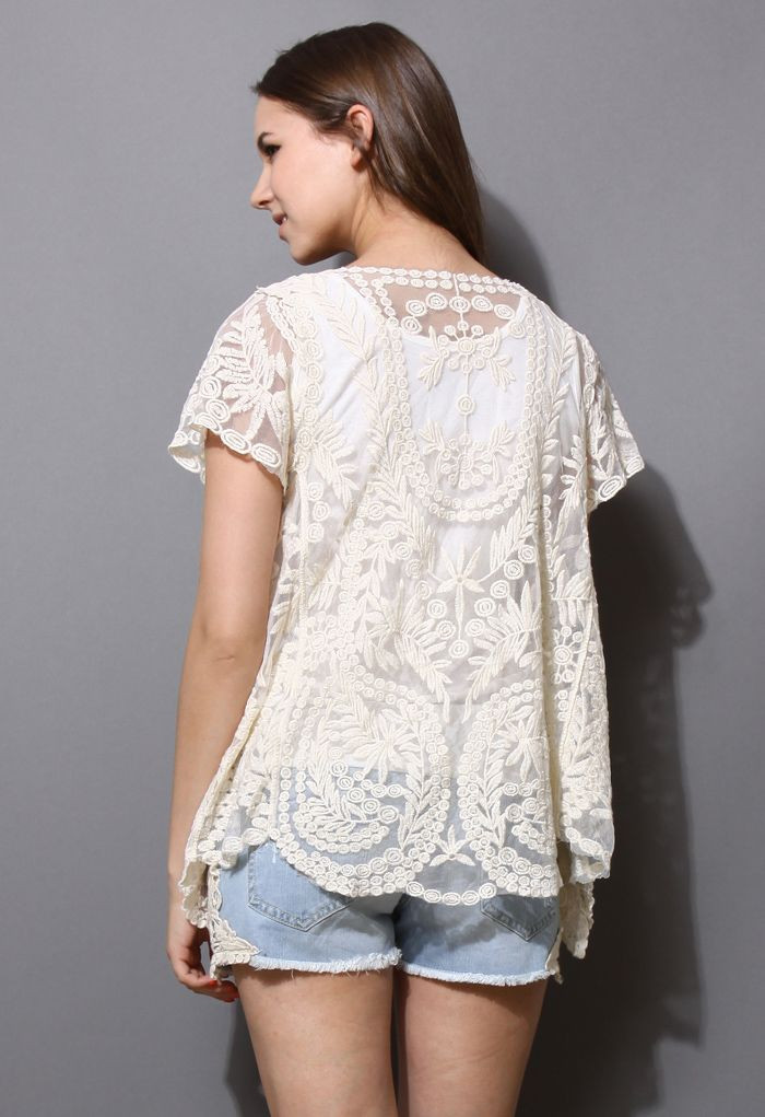 Delicacy Crochet Lace Cardigan Fashion