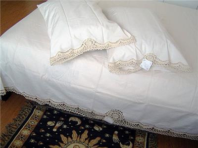 Awesome Delicate 3d Flower Hand Crochet Lace Cotton Beige Bed Crochet Bed Skirts Of Gorgeous 41 Pics Crochet Bed Skirts
