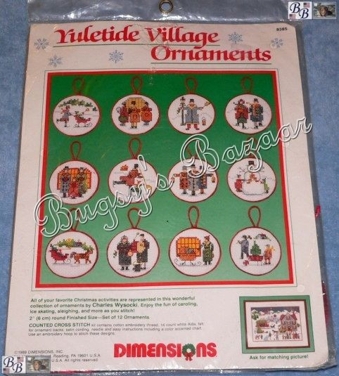 Awesome Dimensions Wysocki Yuletide Village ornaments Counted Cross Stitch Christmas ornament Kits Of Gorgeous 46 Models Cross Stitch Christmas ornament Kits