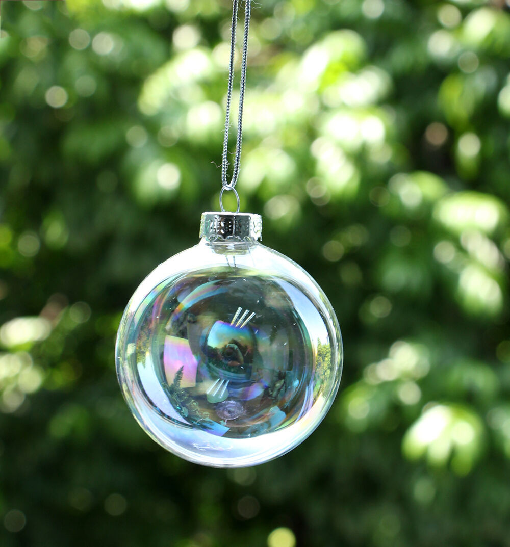 Awesome Diy Clear Iridescent Glass Baubles Ball Christmas Tree Christmas Tree Ball ornaments Of Charming 46 Ideas Christmas Tree Ball ornaments