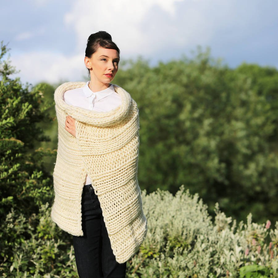 Awesome Diy Knitting Kit Super Chunky Throw Wrap Knit Kit by Wool Chunky Knit Blanket Kit Of Amazing 46 Images Chunky Knit Blanket Kit