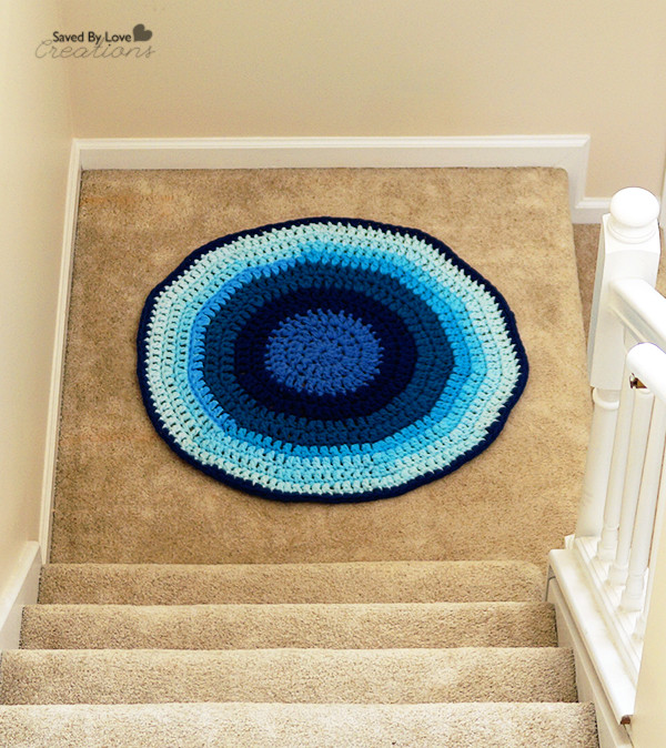Awesome Diy Recycled T Shirt Rug Tutorial Double Crochet Circle Pattern Of Charming 50 Pics Double Crochet Circle Pattern