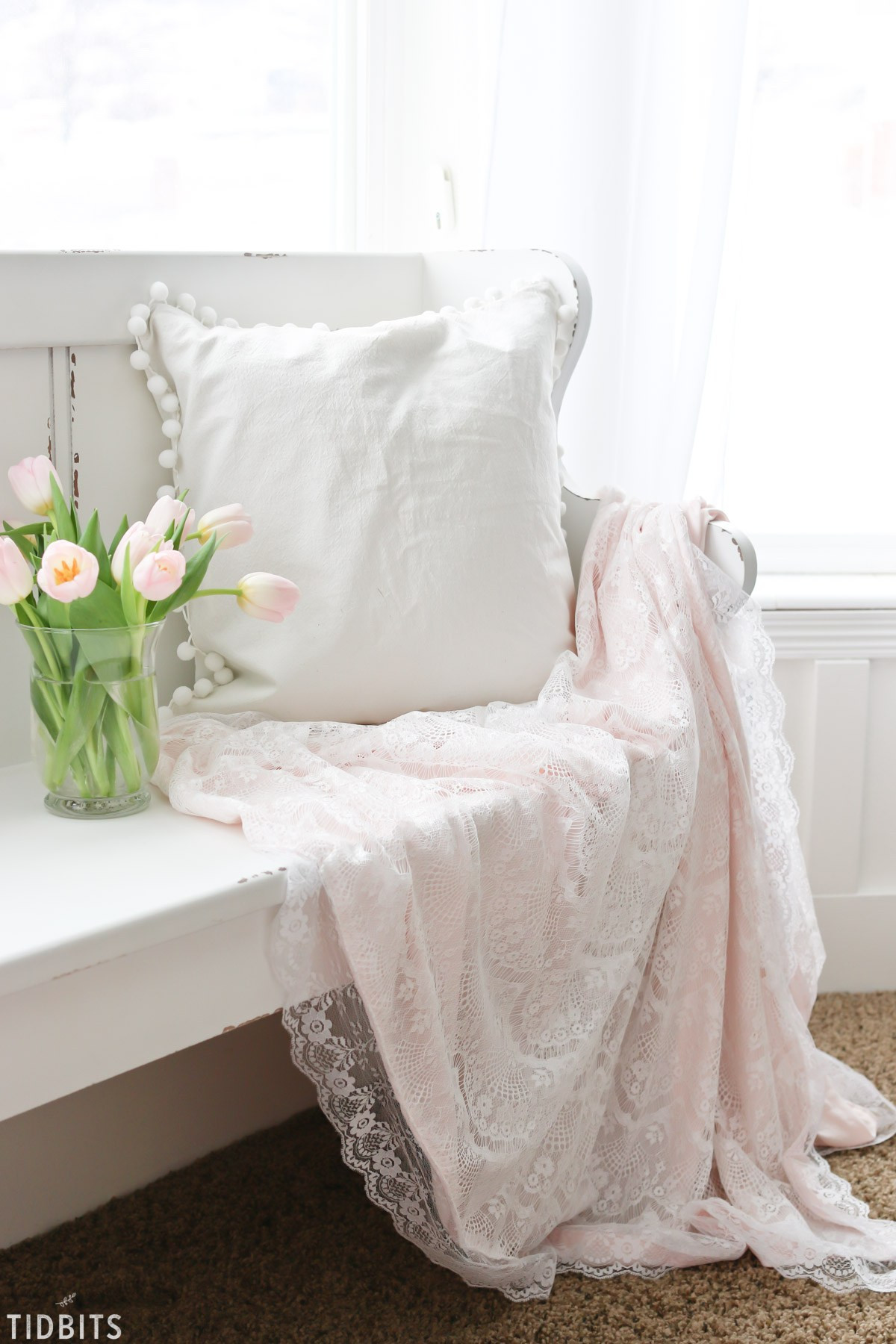 DIY Valentines Lace Throw Blanket Tidbits