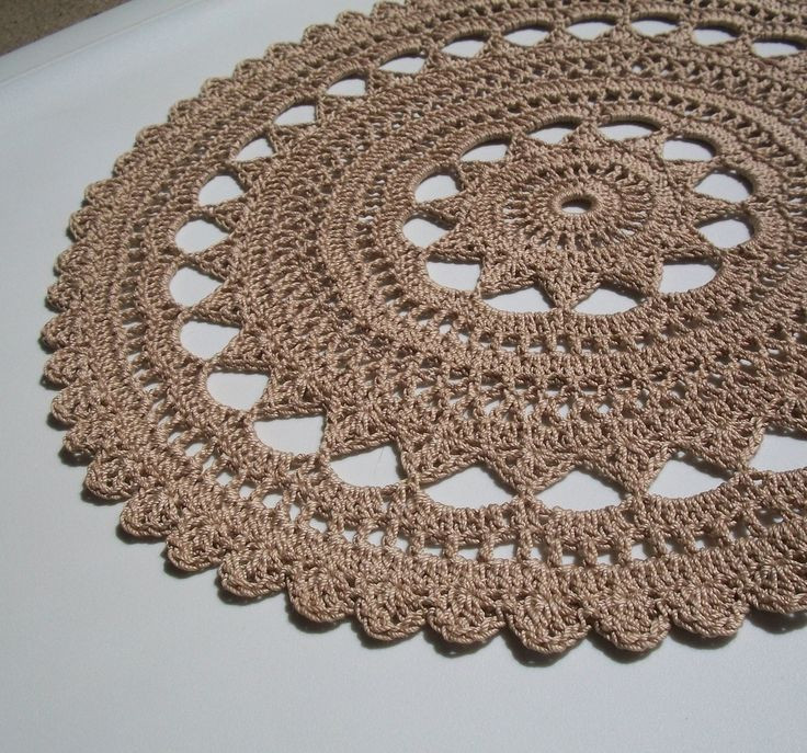 Doily rug did this one many times love the pattern and