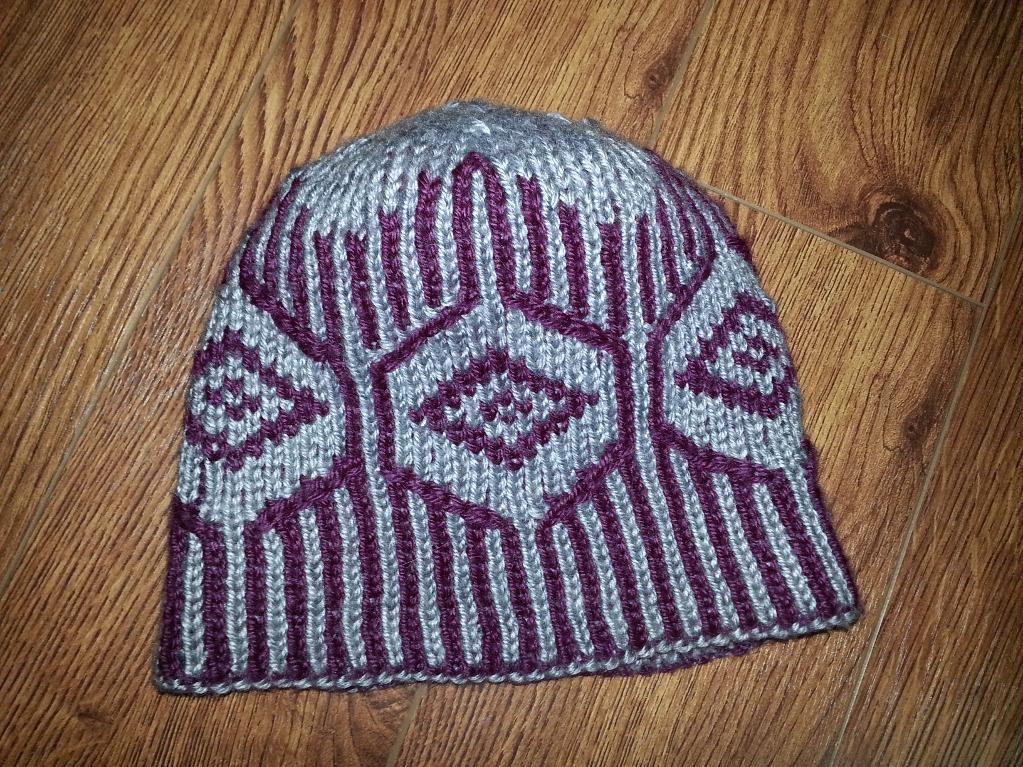 Double Knit Diamond Hat by Mary Foster Moran Craftsy