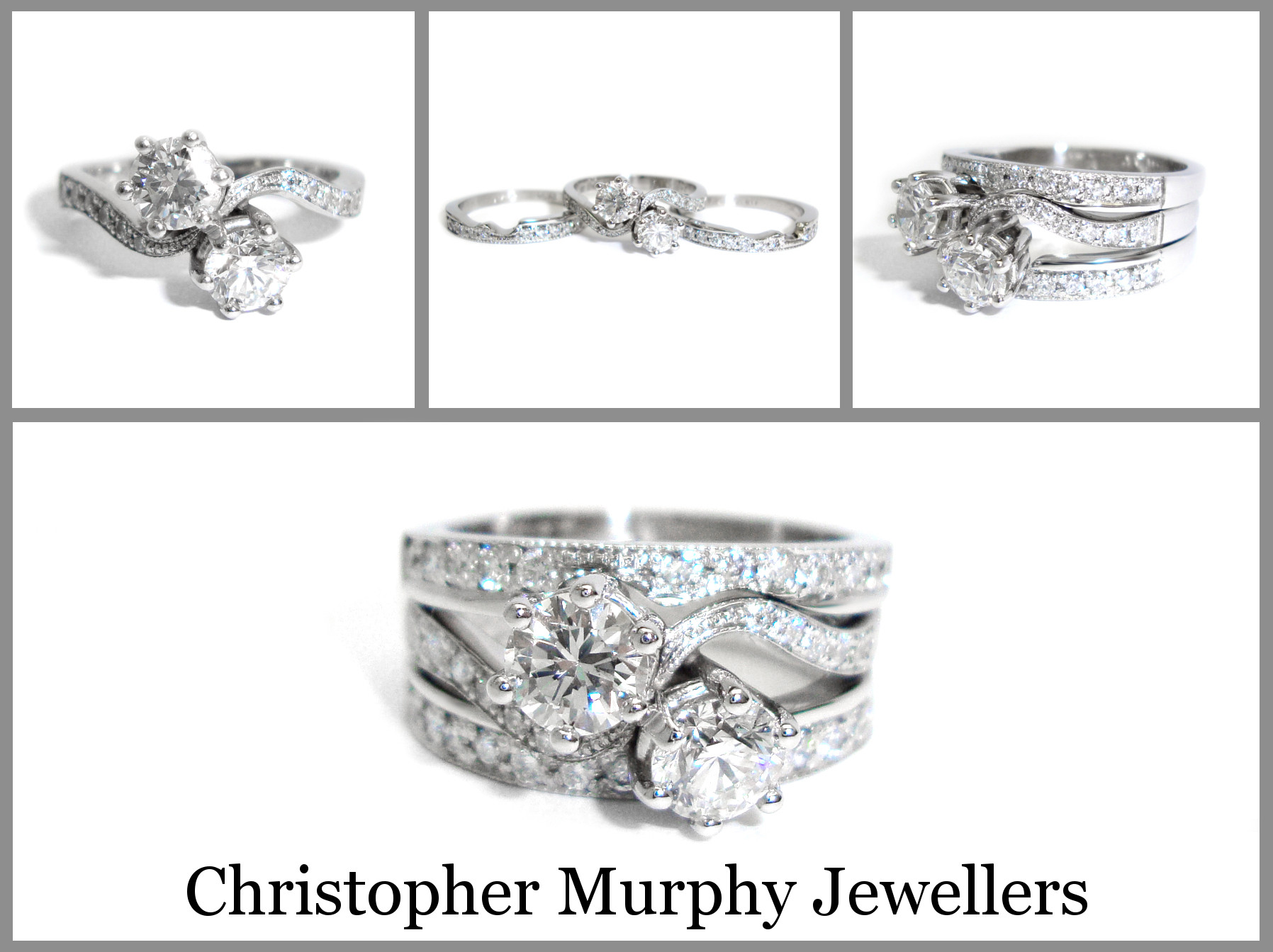 Awesome Double Wedding Ring 182 Christopher Murphy Jewellers Double Wedding Ring Of Perfect 40 Photos Double Wedding Ring