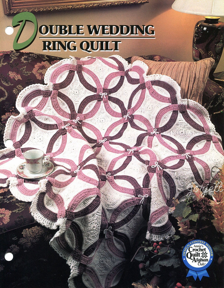 Awesome Double Wedding Ring Quilt Annie S Crochet Pattern Double Wedding Ring Of Perfect 40 Photos Double Wedding Ring