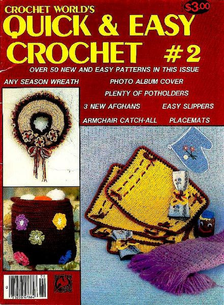 Awesome Download Crochet World – Quick & Easy 2 1985 Pdf Magazine Quick and Easy Crochet Magazine Of Amazing 40 Models Quick and Easy Crochet Magazine