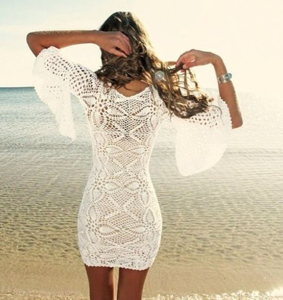 Awesome Dress Crochet White Beige Summer Cover Up Crochet White Crochet Beach Dress Of Brilliant 42 Pics White Crochet Beach Dress