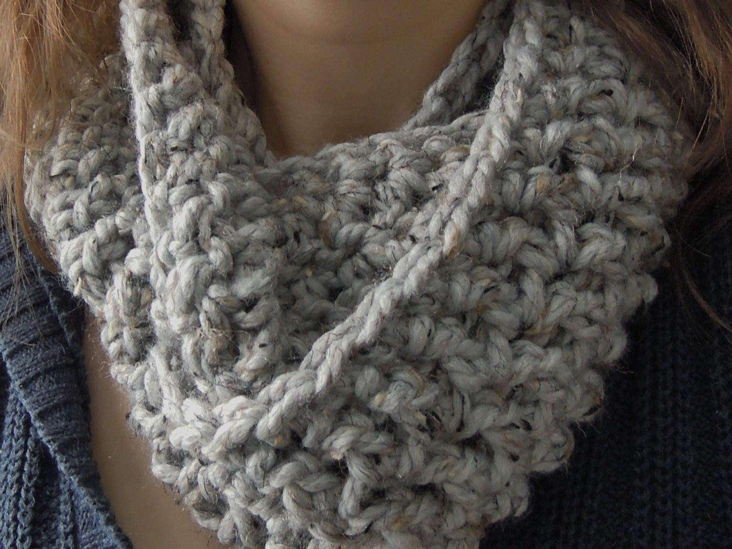 Awesome Easy Chunky E Skein Infinity Scarf Crochet Pattern Chunky Scarf Pattern Of Marvelous 49 Photos Chunky Scarf Pattern