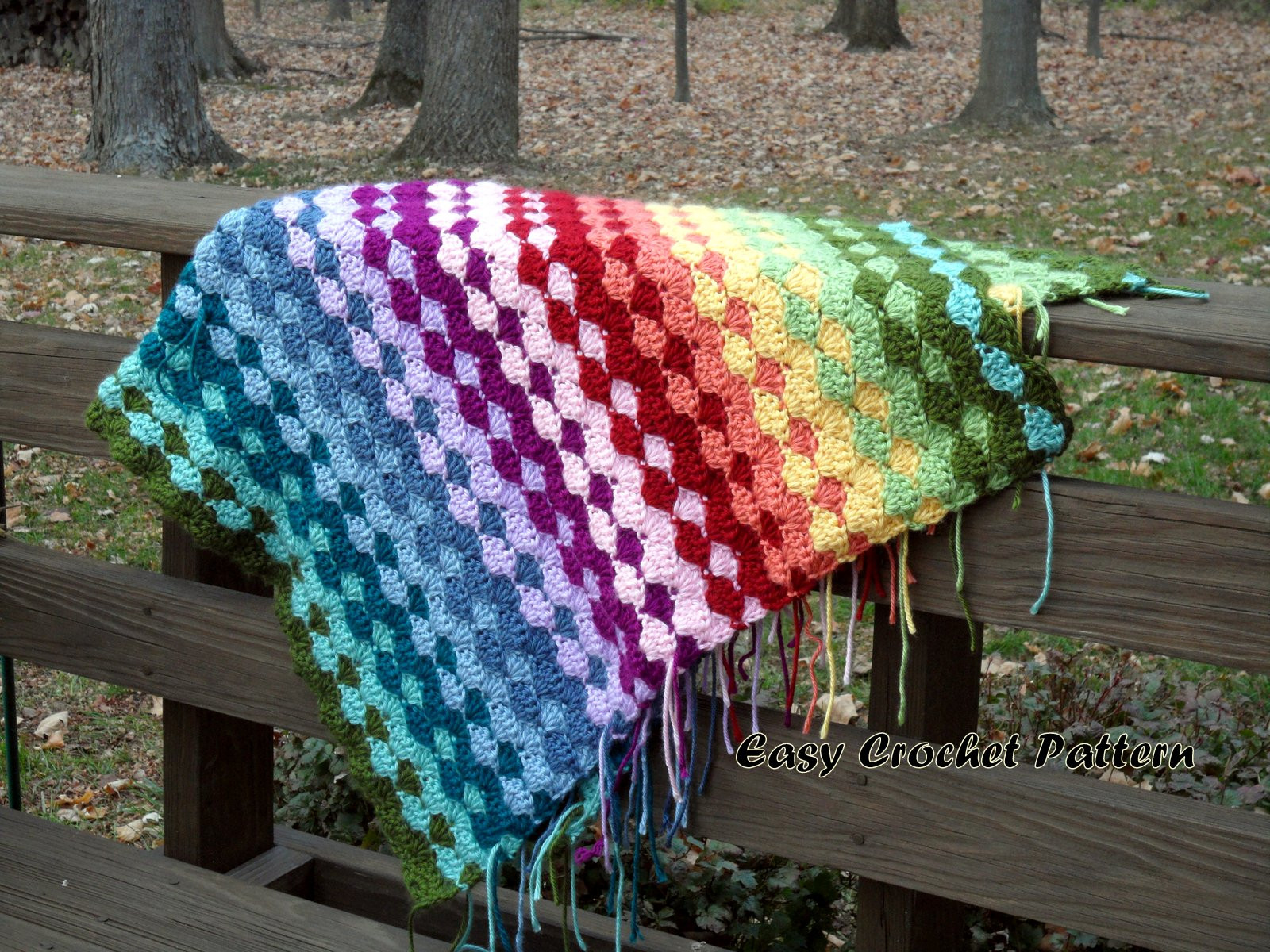 Easy Crochet Pattern Crochet Shell Afghan Tutorial