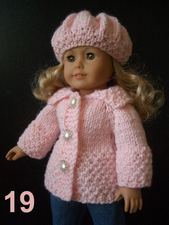 """Awesome Easy Knitting Pattern Ag 18"""" Doll Set Free Knitting Patterns for American Girl Dolls Of Delightful 41 Models Free Knitting Patterns for American Girl Dolls"""