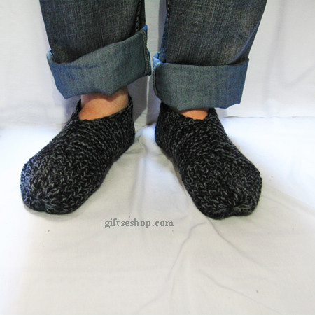 Awesome Easy Slippers Knit Pattern for Men Knit with Two Needles Mens Knitted Slippers Of Incredible 44 Pictures Mens Knitted Slippers