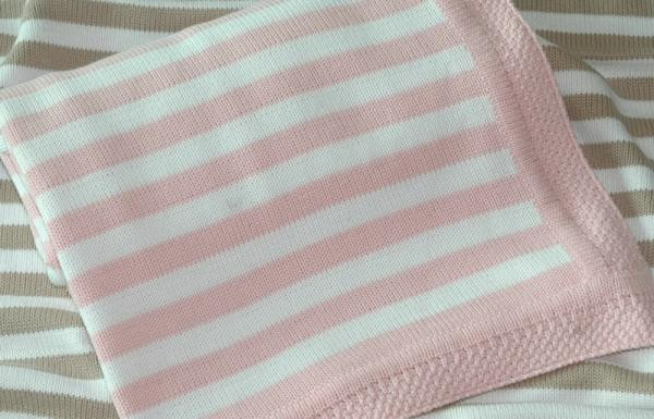 Awesome Eco Friendly 100 Cotton Baby Blankets with Stripe Pink Cotton Knit Baby Blanket Of Awesome 41 Models Cotton Knit Baby Blanket