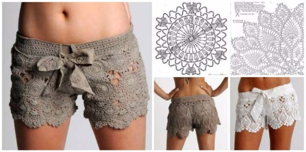 Awesome Elegant Crafts You Can Make with Lace Crochet Lace Shorts Of Unique 47 Photos Crochet Lace Shorts