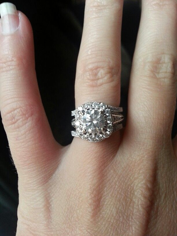 Awesome Engagement Ring with Double Wedding Band Double Wedding Ring Of Perfect 40 Photos Double Wedding Ring