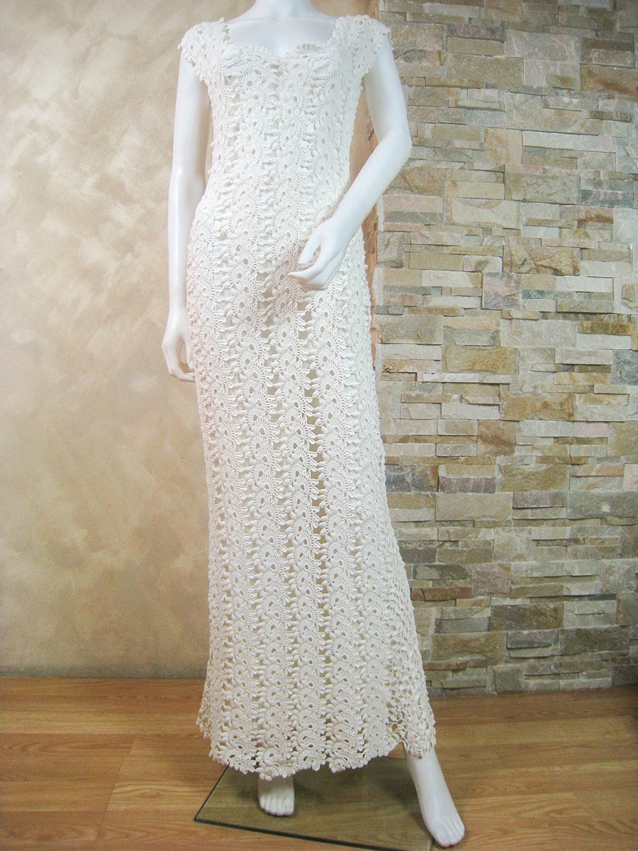 Awesome Exclusive Ivory Crochet Lace Wedding Dress Lace Bridal Dress Ivory Crochet Dress Of Brilliant 41 Ideas Ivory Crochet Dress