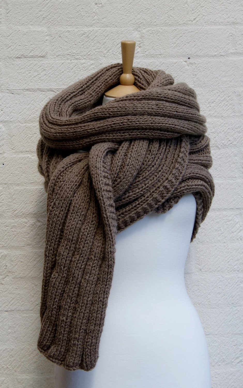 Awesome Extra Long Scarf In Walnut Chunky Knit Scarf Knitted Wrap Chunky Knit Scarf Of Top 50 Photos Chunky Knit Scarf