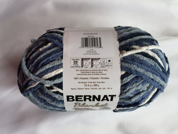 Awesome Faded Blues Bernat Blanket Yarn 220yds 10 5 Oz Skein Bernat Chunky Blanket Yarn Of Fresh 50 Ideas Bernat Chunky Blanket Yarn