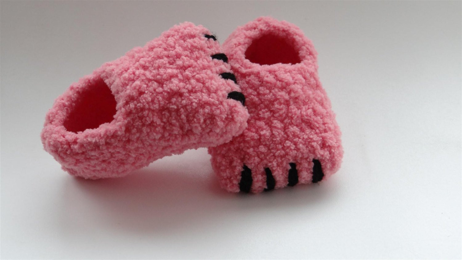 Flamingo slippers crochet monster slippers