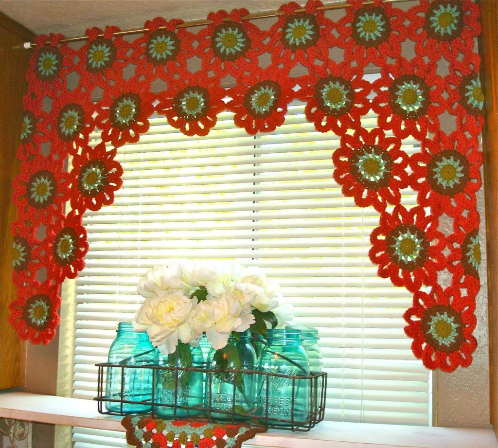 Awesome Flower Power Crochet Curtains [easy Pattern] Crochet Curtain Patterns Of Contemporary 49 Ideas Crochet Curtain Patterns