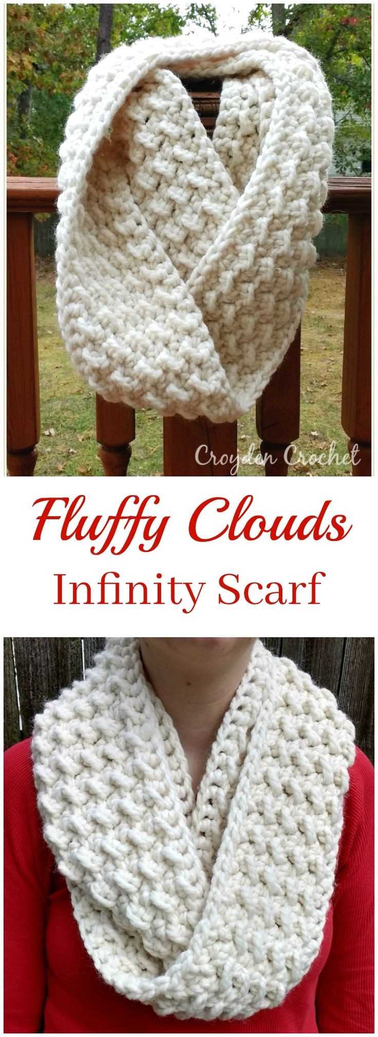 Awesome Fluffy Clouds Infinity Scarf Chunky Crochet Scarf Pattern Of Superb 40 Ideas Chunky Crochet Scarf Pattern