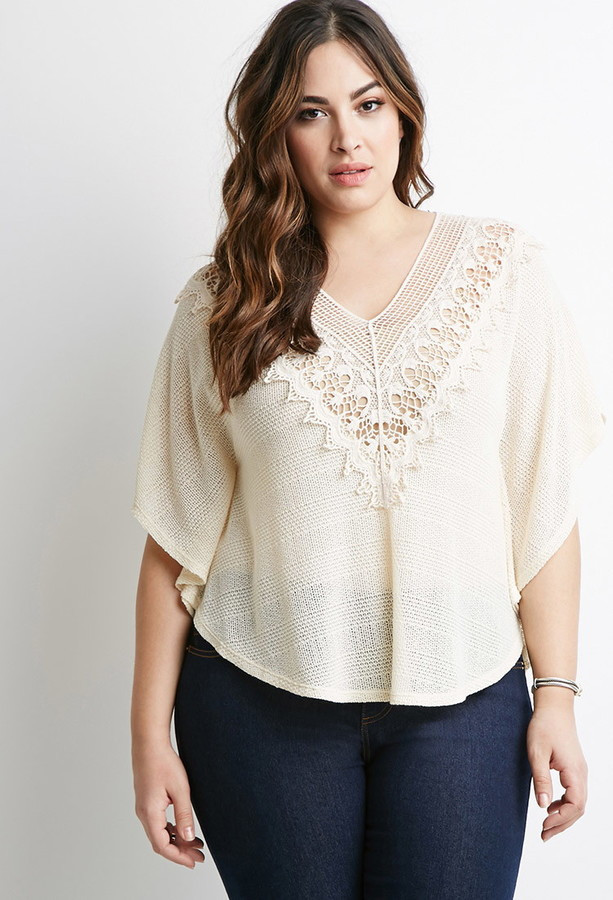 Awesome forever 21 forever 21 Plus Size Crochet Trimmed Sweater Crochet Vest Plus Size Of Beautiful 45 Pics Crochet Vest Plus Size