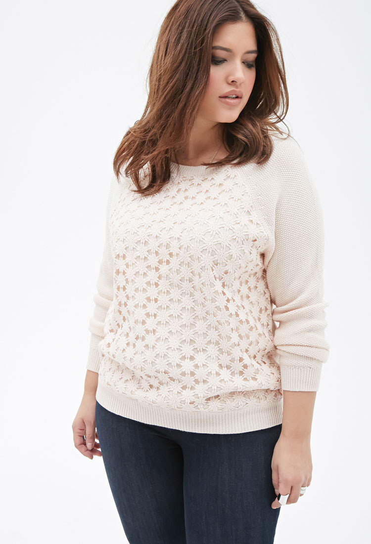 Awesome forever 21 Plus Size Crochet Paneled Sweater You Ve Been Crochet Vest Plus Size Of Beautiful 45 Pics Crochet Vest Plus Size