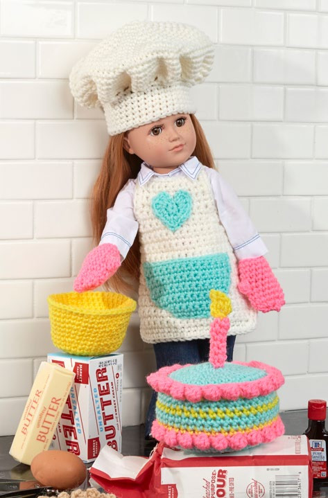 Awesome Free Baking Chef Doll Crochet Pattern From Redheart Com Crochet Patterns Of Amazing 43 Ideas Redheart Com Crochet Patterns