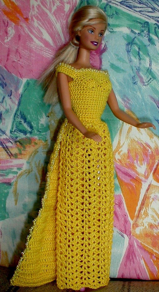Awesome Free Barbie Dress Patterns to Crochet Dancox for Free Crochet Doll Dress Patterns Of Top 50 Photos Free Crochet Doll Dress Patterns