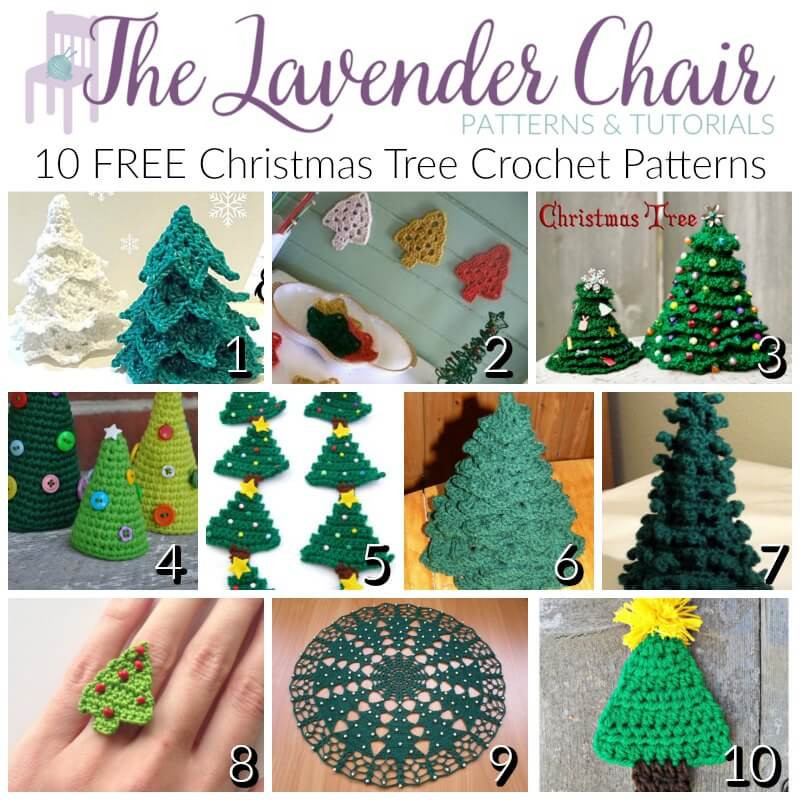 Awesome Free Christmas Tree Crochet Patterns the Lavender Chair Free Crochet Christmas Tree ornament Patterns Of Awesome 44 Ideas Free Crochet Christmas Tree ornament Patterns