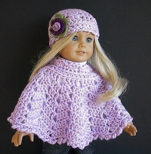 Awesome Free Crochet Doll Poncho Pattern Crochet and Knit Free Crochet Patterns for American Girl Dolls Clothes Of Adorable 50 Pictures Free Crochet Patterns for American Girl Dolls Clothes