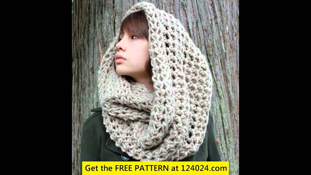 Free Crochet Hooded Scarf Patterns