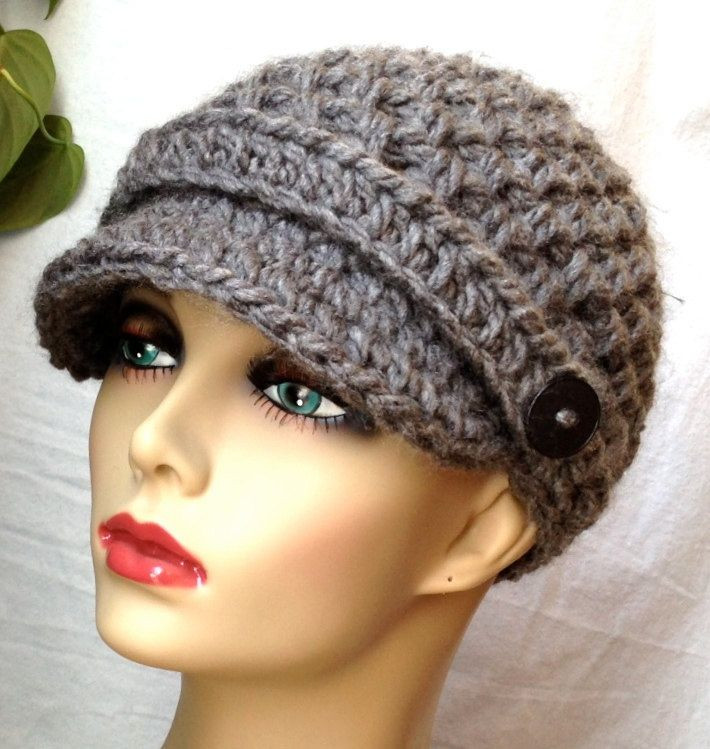 free crochet newsboy hat patterns for women