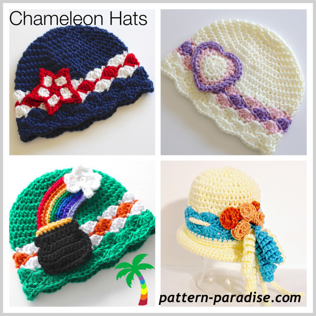 Awesome Free Crochet Pattern Chameleon Hat May Flowers Crochet Flowers for Hats Free Patterns Of Contemporary 43 Pics Crochet Flowers for Hats Free Patterns