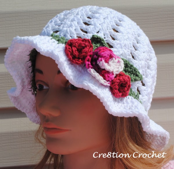 Free Crochet Pattern for Adult Spring or Easter Hat
