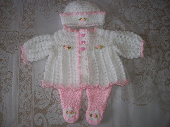 Awesome Free Crochet Pattern for Baby Layette Sets Dancox for Crochet Baby Sweater Sets Of Charming 43 Photos Crochet Baby Sweater Sets