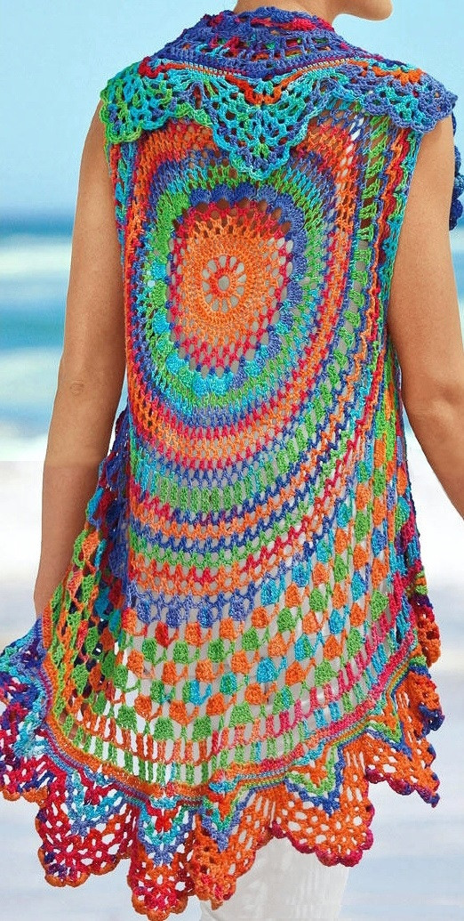 Free Crochet Pattern For Hippie Vest Dancox for
