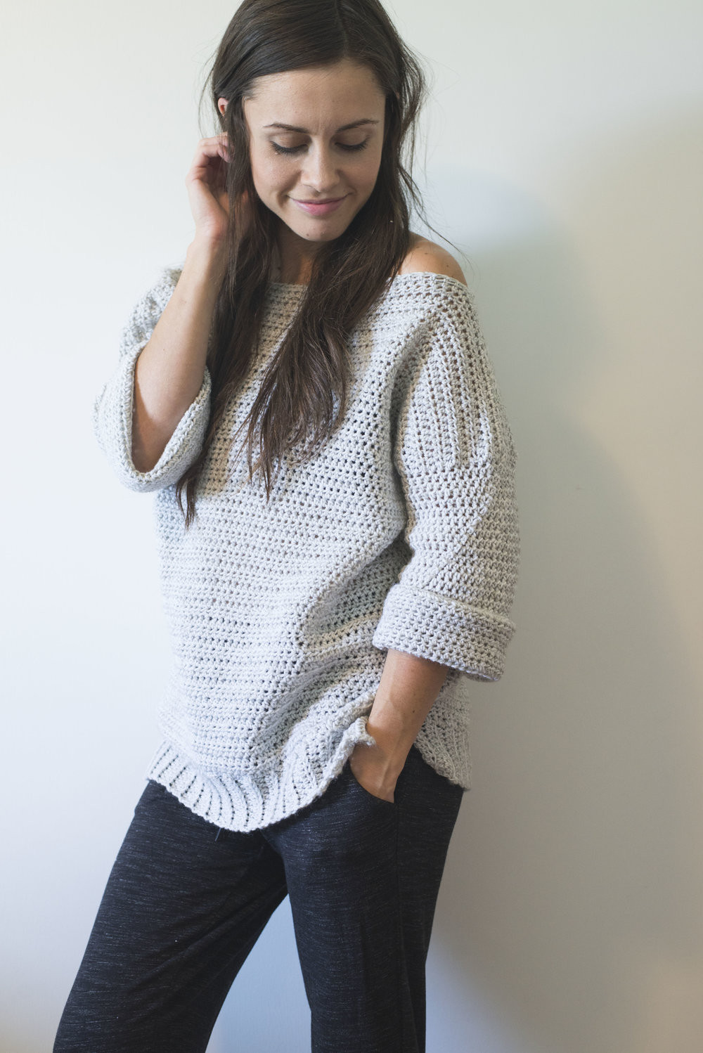 free crochet pattern for the homebody sweater easy fy and cute