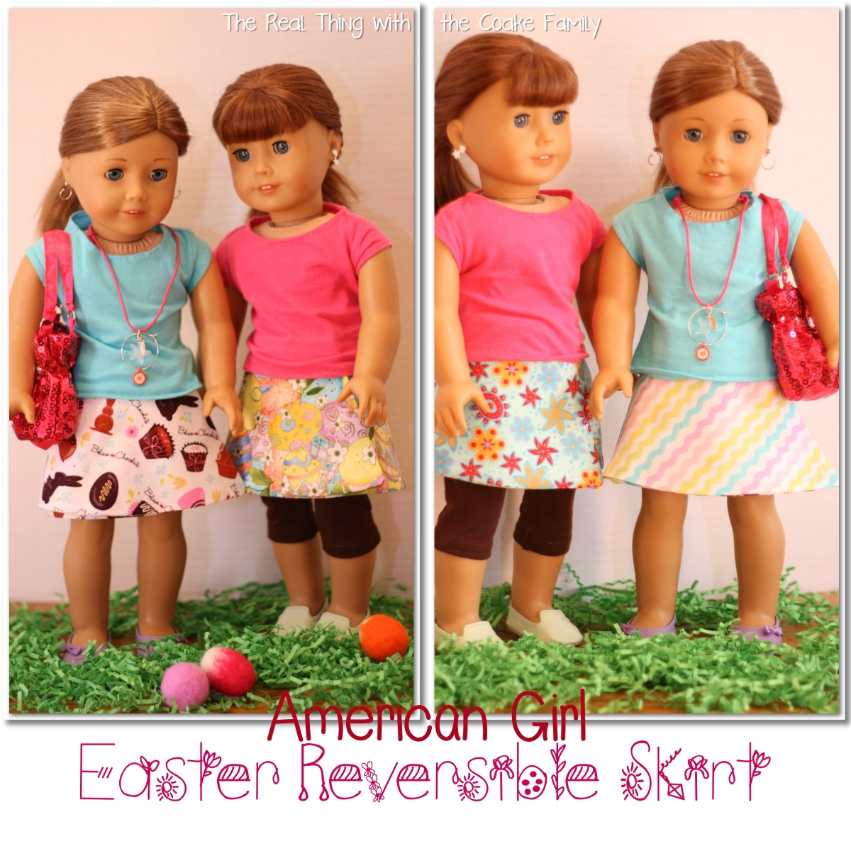 Awesome Free Doll Clothes Pattern Easter Reversible Skirt the Free American Girl Doll Patterns Of Top 44 Pics Free American Girl Doll Patterns