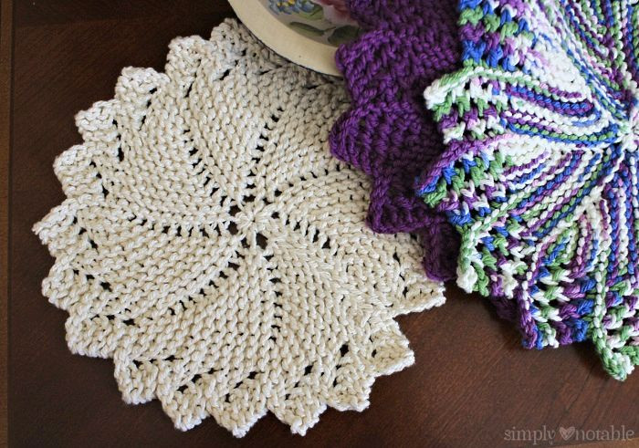 free knitted round dishcloth patterns Crochet and Knit