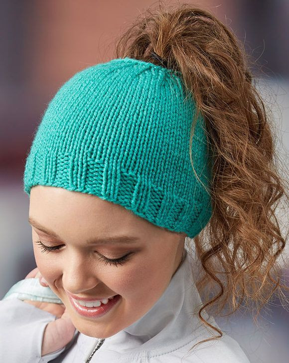 Awesome Free Knitting Pattern for Easy Messy Bun Hat Laura Bain Knit Ponytail Hat Pattern Of Lovely 44 Ideas Knit Ponytail Hat Pattern