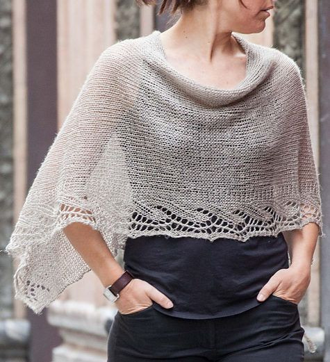 Awesome Free Knitting Pattern for Emilia Poncho This Lace Edged Free Poncho Knitting Patterns Of Incredible 43 Models Free Poncho Knitting Patterns
