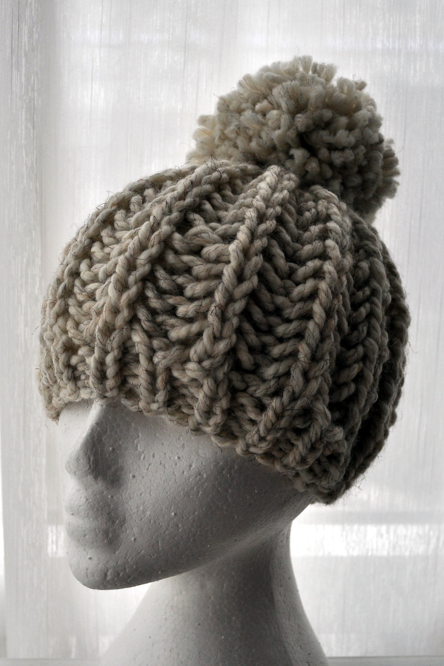 Free Pattern Knit Fisherman Ribbed Hipster Hat
